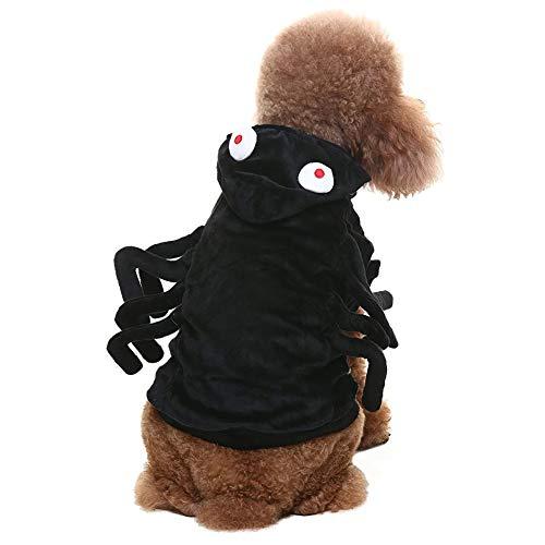 (Creepy Or Scary) Dog Costumes - Coppthinktu Spider Dog Costume - Halloween