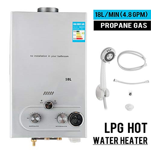 18L 4 8GPM Lpg Gas Propane Tankless Water Heater Instant Hot Water Boiler Shower - Gas Water Boiler