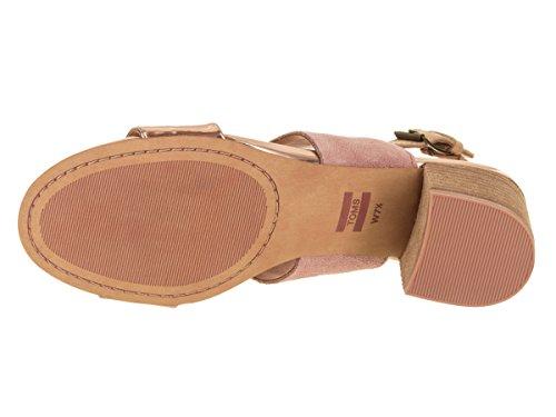 Suede Specchio Poppy Bloom Rose TOMS Women's Gold Sandal Corduroy 4XgqwBxqv