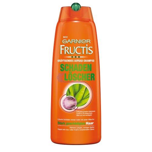 Garnier Fructis Haarshampoo Schaden Löscher / Kräftigendes Aufbau-Shampoo für stark geschädigtes Haar (mit Protein & Öl-Amlaextrakt) 3er Pack - 250ml