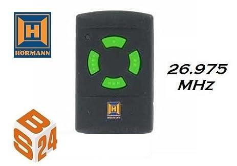 Bon Hormann HSM4 Garage Door Remote With Green Buttons 26.975mhz By Hormann