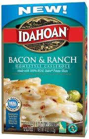 Idahoan Homestyle Casserole Bacon & Ranch Potatoes 4 oz (Pack of 4)