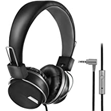 Music Headphone for Adult, Teens, Kids Headphone for Computer, Tablet Ipad or Smart Phone | Adjustable, Foldable Headphone On-Ear Music Headphones for Children| 3.5mm Jack | Wired Microphone