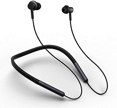 ROQ 8D HI BASS Magnetic Bluetooth Earphone with MIC and Memory Card Slot 64 GB MP3 Player (Black)