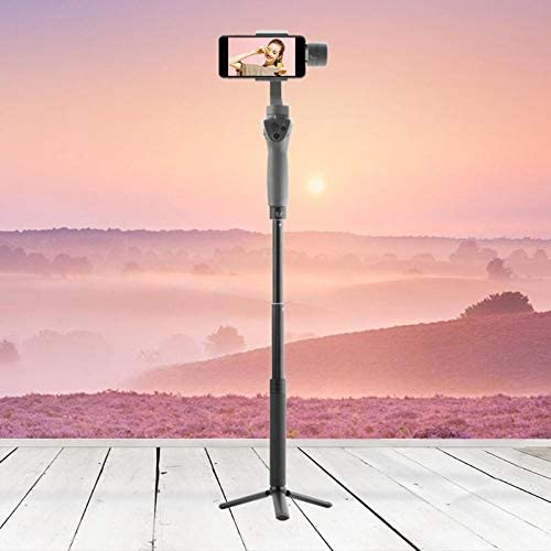 Blue-Ocean-11 Aluminium Alloy Foldable Handheld Tripod Stand Extension Bar Stick Telescopic Rod With 1//4 Nut Port for DJI Osmo Mobile 2 Gimbal