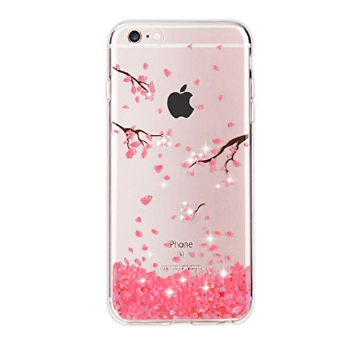 Qissy iPhone5s Case, iPhone5 Case HD Cats flower love butterfly girl Clear Design Transparent TPU Cover for iPhone
