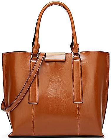 ハンドバッグ、ヨーロッパとアメリカのシンプルな人格ファッショントートバッグ、野生のショルダーバッグクロスボディバッグ、34 * 14 * 30センチメートル よくできた (Color : Brown)