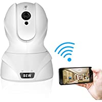 BEW 1080P Wireless Security IP Camera with 2-Way Audio for Baby / Nanny / Pet Monitoring and Home Security (1080P, White)