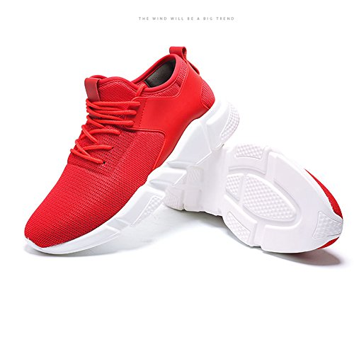 FZDX Women's Sport Fashion Athletic Shoes Lightweight Outdoor Quick-Dry Shoes Men Red 002 oLibtfU