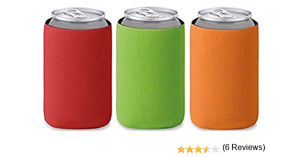 Pack de tres plegable enfriador de latas (cerveza enfriador para viaje, Jardín, grilen Barbacoa, Fiesta, Picnic, Excursión de Adecuado para 0,33L – Latas/de latas de cerveza – Tacto Suave Mango Colores: Amazon.es: