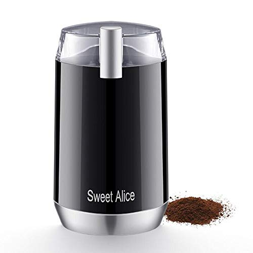 Sweet Alive Electric Coffee Grinder, 120V Powerful Stainless Steel Blade With large Grinding Capacity And HD Motor, Suitable for Herbs, Nuts, cereals, etc. [2 years warranty]