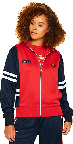 ellesse Women Track Jacket Predazzo Tracktop, Color:Ribbon red, Size:12 (M)