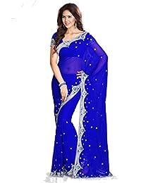 Mirchi Fashion Women's Sequins Work Wedding Indian Saree Unstitched Blouse Piece