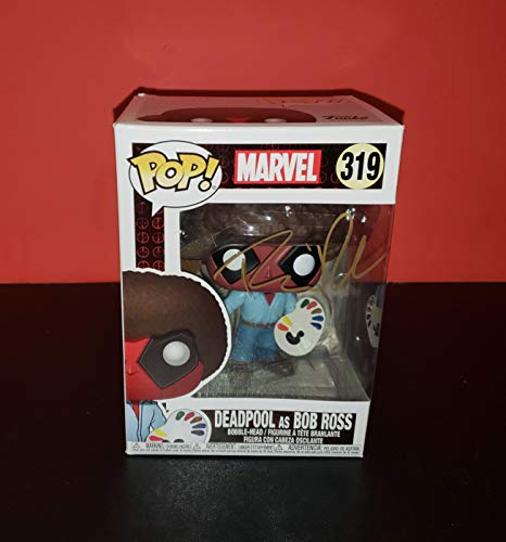 Ryan Reynolds - Autographed Signed DEADPOOL as BOB ROSS FUNKO POP 319 Vinyl Figure - MARVEL UNIVERSE Comics - Wade Wilson