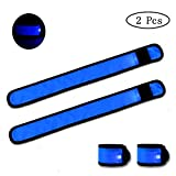 Glow Bands Lights up Wrist Bands Flashing LED Armbands for Night Running,Climping,Concert,Football,Outside Sports-Replaceable Battery-[2 Pack] Single Colour
