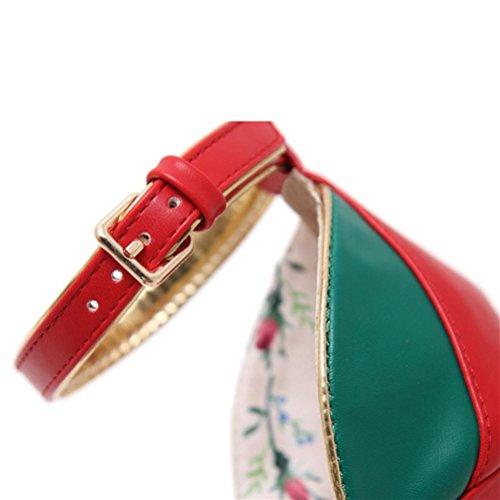 Taille Petites Shallow Pointue Fine 33 Mesdames hauts simples Talons 48 green Chaussures Boucle XIE Boucle Talon Grandes w4qOF77