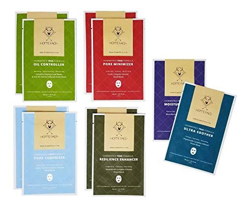 HOMMEFACE Men's Facial Sheet Mask Kit - 10 Sheet Masks, Korean Beauty Skincare Set, Gifts for Him ()