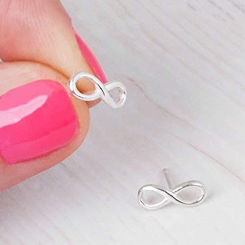 Small Sterling Silver Infinity Earrings - Designer Handmade Minimal Stud Post