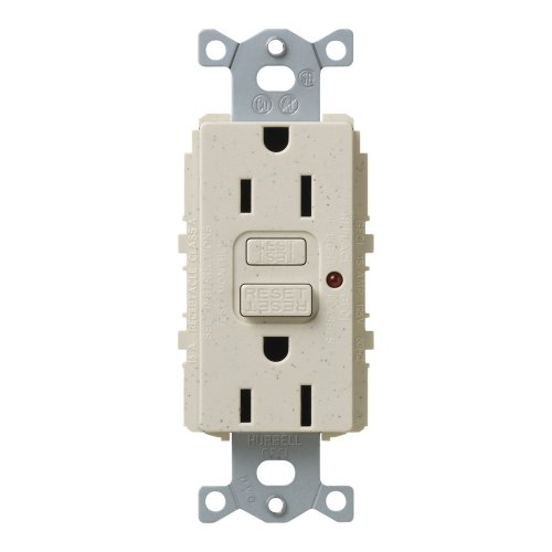 UPC 027557630283, Lutron SCR-15-GFTR-LS Satin Colors 15A GFTR Electrical Socket Receptacle, Limestone