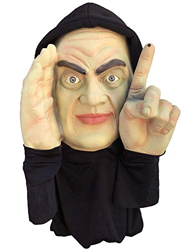 Really Scary Halloween Faces (Scary Peeper Motion Activated Tapping Window Hanging Mask - Indoor / Outdoor - Great for Haunted House Party Scares, Tricks, and Pranks - Peeping)
