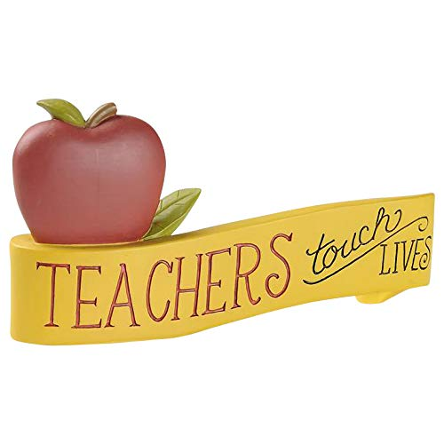 (Blossom Bucket 191-12012 Teachers Touch Lives Plaque Multi-Colored)