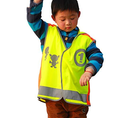 HUANGDA-Visibilidad Chaleco Reflectante para niños Chaleco de Seguridad Ropa de Seguridad para Montar Ropa de Seguridad para...