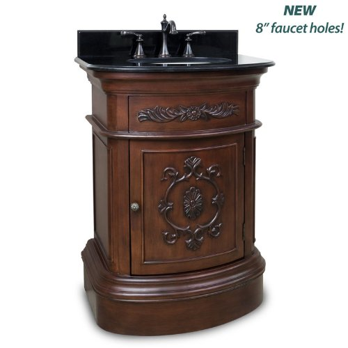 Elements VAN031-NT Emilia Collection 35 Inch Vanity Base, Painted Merlot Finish - Element Bases