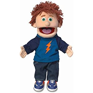 "14"" tommy, peach boy, hand puppet - 412Ko1E6 2BML - 14″ Tommy, Peach Boy, Hand Puppet"