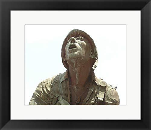 (San Antonio Texas Vietnam Veterans Memorial Framed Art Print Wall Picture, Black Frame, 18 x 16 inches)