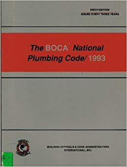 The Boca National Plumbing Code/1993