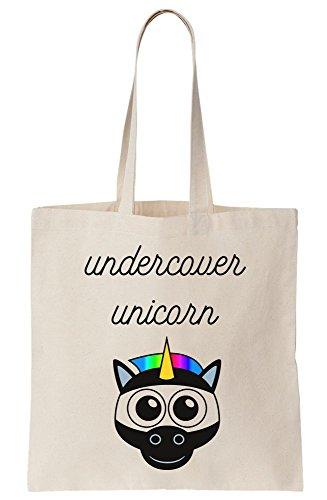 Undercover Unicorn Cute Ninja Unicorn Stealth Mode On Canvas Tote Bag