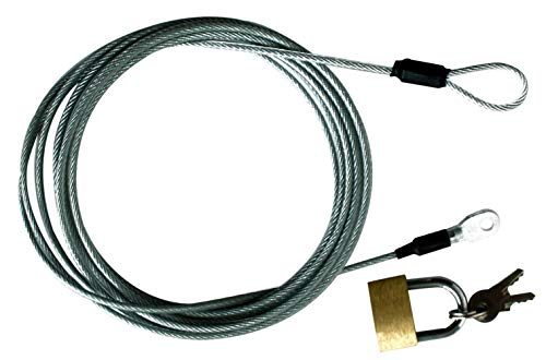 """Leader Accessorie Cable and Lock Kits for Car Cover SUV Cover, Truck Cover 85"""" Length"""