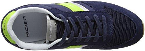 Hackett London Winfield, Zapatillas de Entrenamiento para Hombre Azul (Navy)