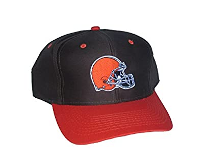 Cleveland Browns Snapback Adjustable One Size Fits All Helmet Logo 2-Tone Brown & Orange Hat Cap from Outerstuff Ltd.