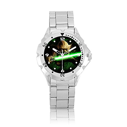 Star war Yoda White Round Bezel Wrist Watch Limited (Yoda Watch)