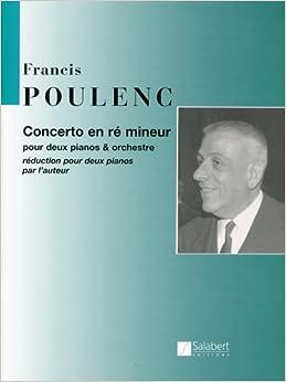 プーランク : 2台のピアノのための協奏曲/サラベール社/2台ピアノ4手用編曲