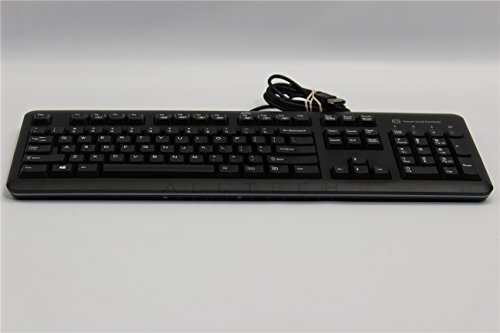 HP 701671-001 USB Windows keyboard assembly - With integrated Circuit(s)  Cards Interface Devices (CCID) smartcard reader - With attached 1 8m  (6 0ft)