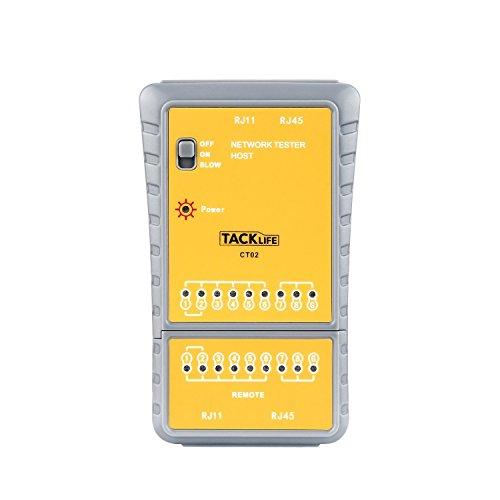 9 opinioni per Tacklife CT02 Tester di Cavi NetWork e Telefonici RJ45 RJ11 Multifinder di Cavi