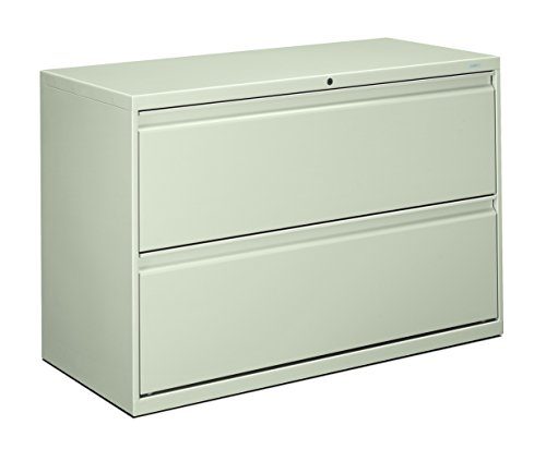 - HON 892LQ 800 Series 42 by 19-1/4-Inch 2-Drawer Lateral File, Light Gray