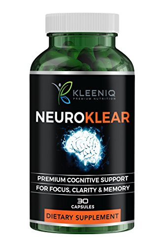 Cheap KLEENIQ ® Brain Supplement for Supports Focus, Clarity, Energy, Function & Memory for Women and Men with Ginkgo Biloba, St. John's Wort, Bacopa Monnieri and More