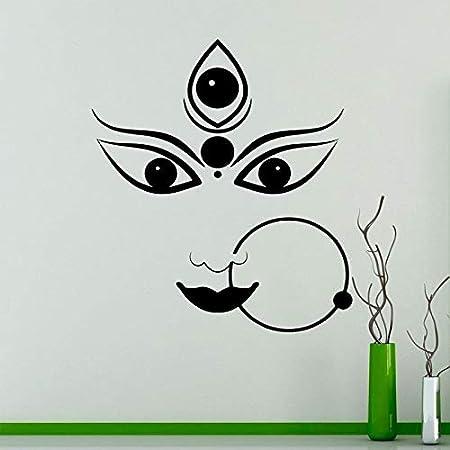 YuanMinglu Dios hindú hindú Durga Apliques de Vinilo ...