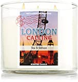 Bath & Body Works London Calling 3 Wick 14.5 Oz Candle with Decorative Lid Lemon Tea