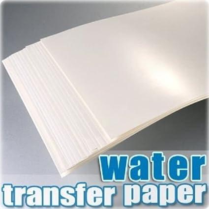AMZ - Papel especial para impresora de grabado en agua, calcomanías e inyección, formato A4, 20 hojas