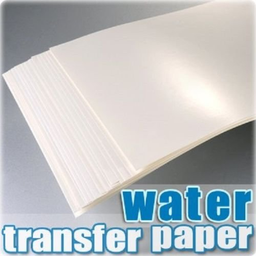 TPW A4 Inkjet Water Slide Decal Paper Craft Transfer x 20pcs White
