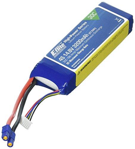 E-flite 3200mAh 4S 14.8V 30C LiPo 12AWG EC3 Battery