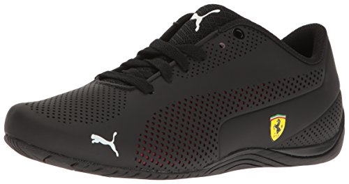 (PUMA Men's Ferrari Drift Cat 5 Ultra Sneaker, Black-Rosso cor, 8.5 M US)