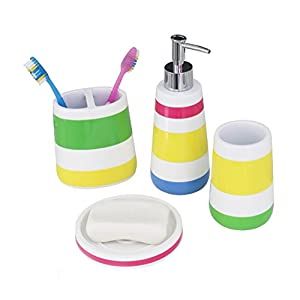 412Kr90uEzL._SS300_ 70+ Beach Bathroom Accessory Sets and Coastal Bathroom Accessories 2020
