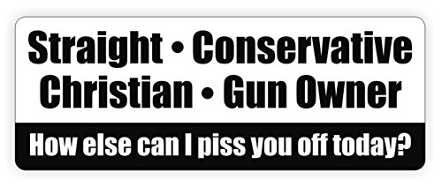 Crown Gas Mixer (1-Pc First-Rate Unique Straight Conservative Christian Gun Owner How Else Can I Piss You Off Today Window Stickers Laptop Macbook Funny Windows Wall Art Vinyl Sticker Size 3