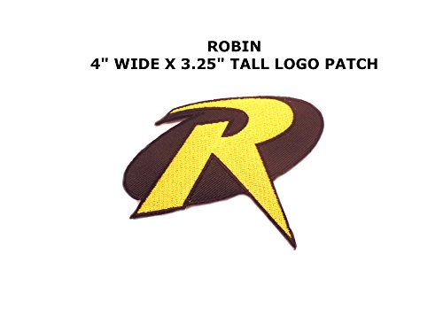 [Athena Superhero DC Robin Logo (Batman) Easy Iron or Sew-on Embroidered Cartoon Comics Movie Theme Applique Patch] (Imperial Guard Costume Warhammer 40k)