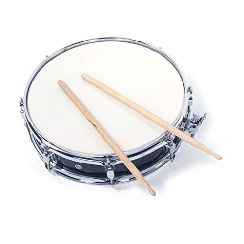 (13X3.5 Inch Black Snare Drum + Drum Stick + Drum Key + Strap)